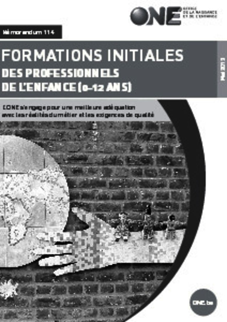 couverture de la brochure des formations