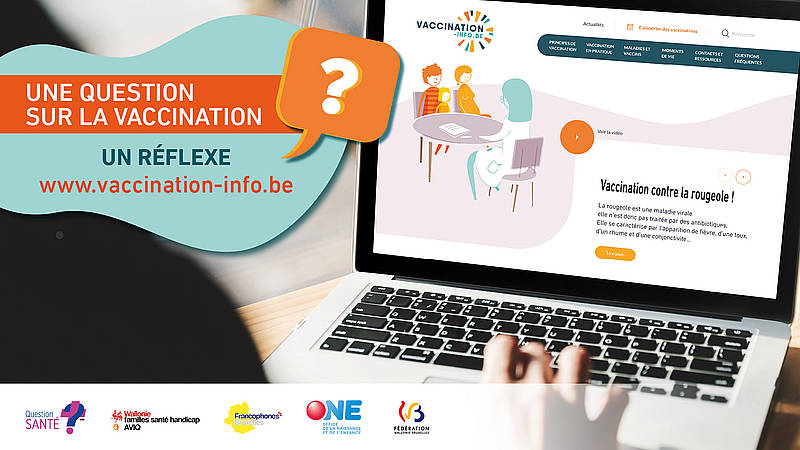 Une question sur la vaccination ? Un réflexe, www.vaccination-info.be